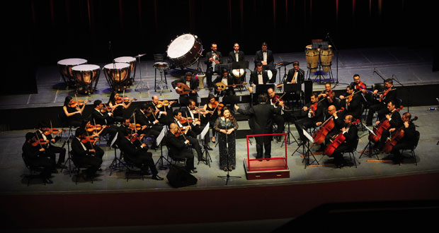 The national orchestra for arabic music performs on opera for House music orchestra
