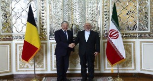 Iranian and Belgian foreign ministers