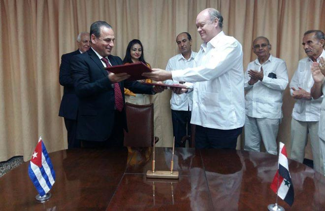 Syria And Cuba Sign A Framework Agreement On Health Cooperation