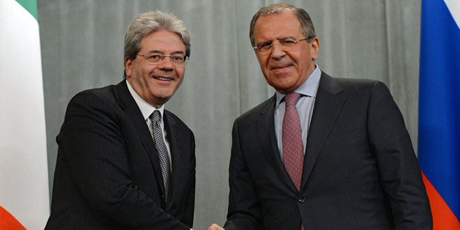 Russian Foreign Minister-Italian Foreign Minister
