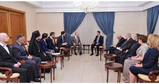 President al-Assad-Russian delegation