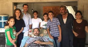 President al-Assad-injured army personnel-Homs 1