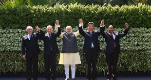BRICS group picture in Benaulim, in the western state of Goa, India, October 16, 2016.