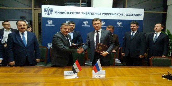 Syria Russia Ink Agreement For Cooperation In Energy Field Syrian