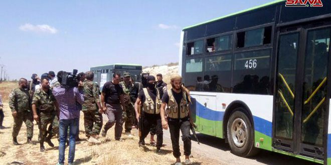 Terrorists evacuated from Mahajjeh town in Daraa, preparations underway to evacuate terrorists in Nawa