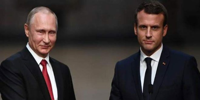 Putin, Macron discuss situation in Syria
