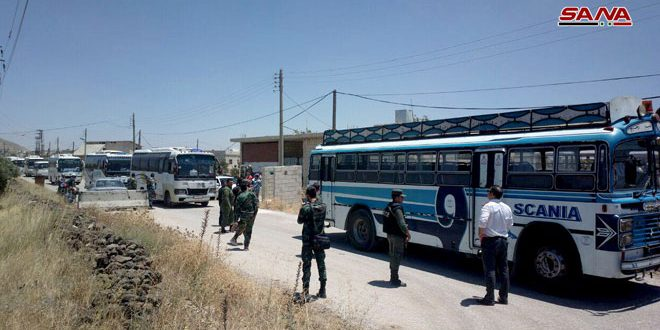 Evacuation of second batch of terrorists from Quneitra countryside to the north of Syria commences