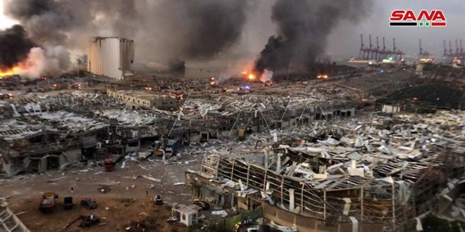 Update- Dozens of killed and injured persons in a huge explosion that rocked Beirut port