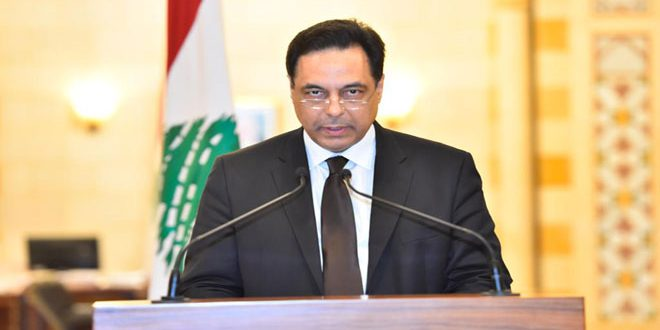 Diab announces resignation of Lebanese government
