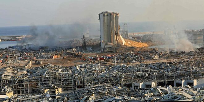 Syrian Embassy in Beirut: In an initial outcome, 43 Syrian martyrs in explosion hit Beirut Port