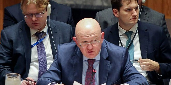 Nebenzya:  Unilateral coercive economic measures imposed on Syria hinder political solution to crisis in the country