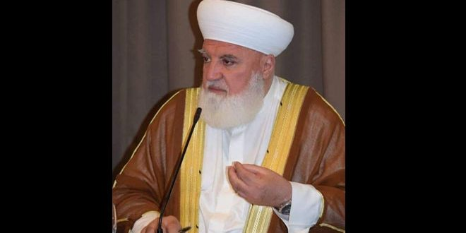 Sheikh Mohammad Adnan Afyouni  , Mufti of Damascus and its countryside, martyred in explosive device blast in Qudsaya town