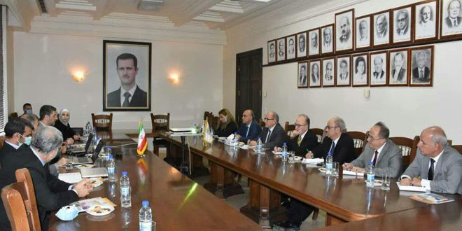 Syrian-Iranian talks to enhance cooperation in Medical, technological Sciences