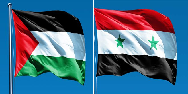 Syria reiterates its stance in support of the Palestinian right to self-determination