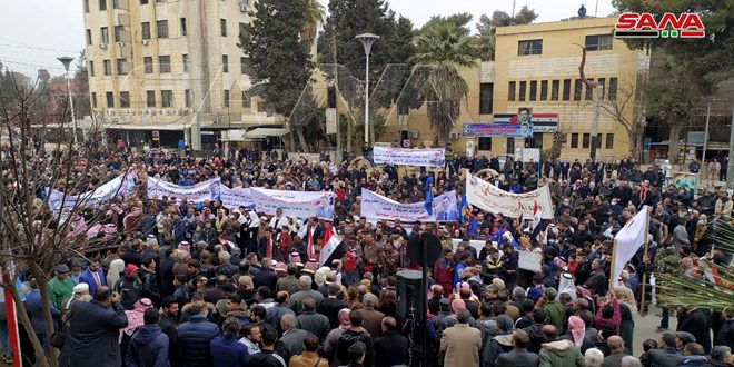 Two stands in Hasaka, Qamishli in protest against QSD violations, criminal siege on residential neighborhoods