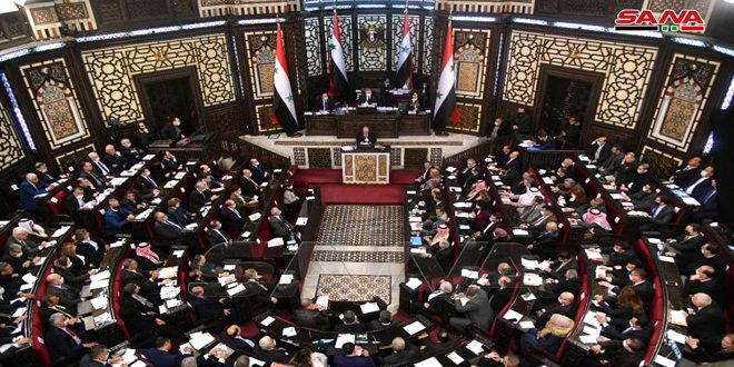 People's Assembly stresses need to achieve new steps forwards, meet aspirations of Syrian people