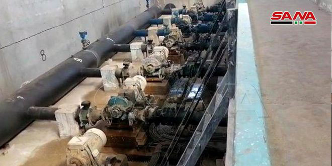 Turkish occupation forces cut off water from Hasaka and its western countryside once again