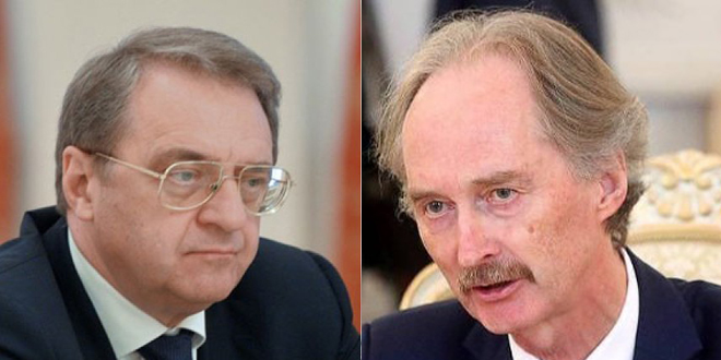 Bogdanov, Pederson discuss preparations for holding fifth round of Committee of Discussing the Constitution
