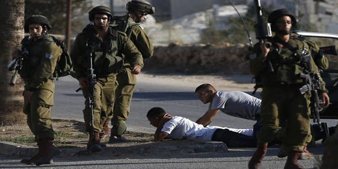 Israeli occupation forces arrest three Palestinians in the West Bank