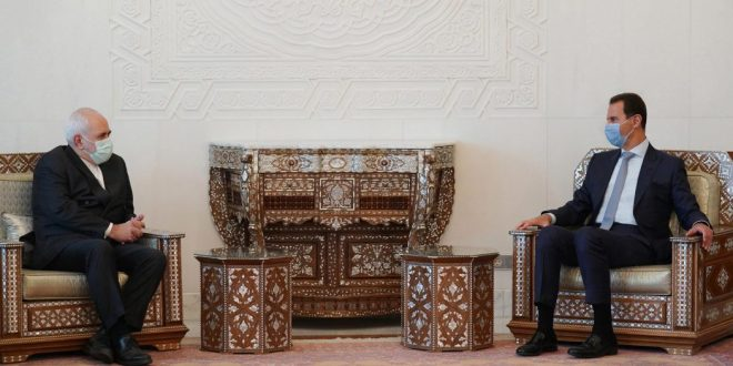 President al-Assad receives Zarif.. talks deal with bilateral relations and enhancing cooperation