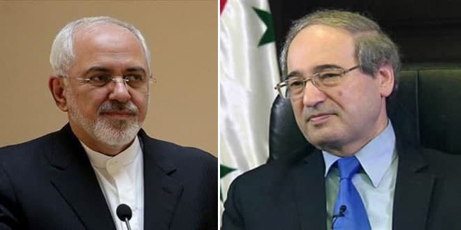 Mikdad , Zarif discuss bilateral relations, latest developments in region
