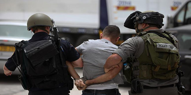 Israeli occupation troops arrest eight Palestinians in the West Bank