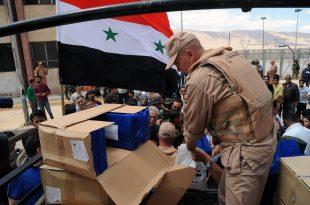 distribuir ayudas humanitarias- Damasco-campo