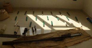 municiones incautadas en el campo de Swaida