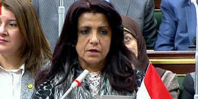 Parlamentaria egipcia: el bloqueo económico impuesto a Siria contradice los conceptos humanitarios