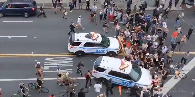Vean como la policía en EE.UU arrollan y reprimen a los manifestantes