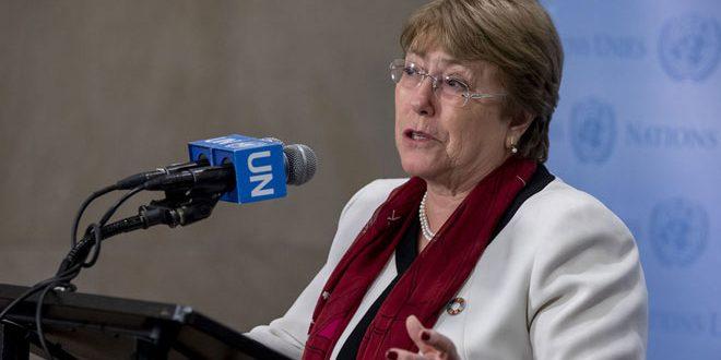 Bachelet advierte sobre violencia y criminalidad en áreas bajo control del ocupante turco en Siria