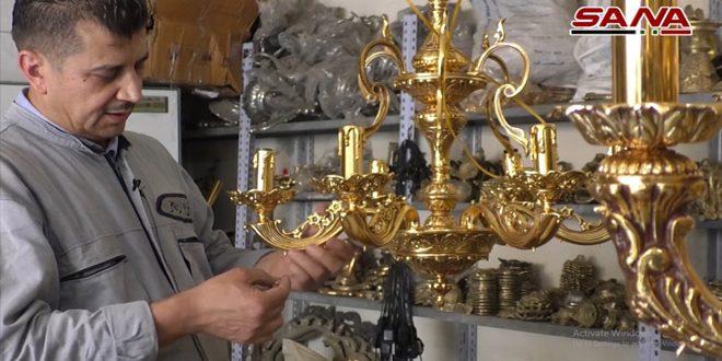 VIDEO: candelabros de techo, una típica artesanía siria