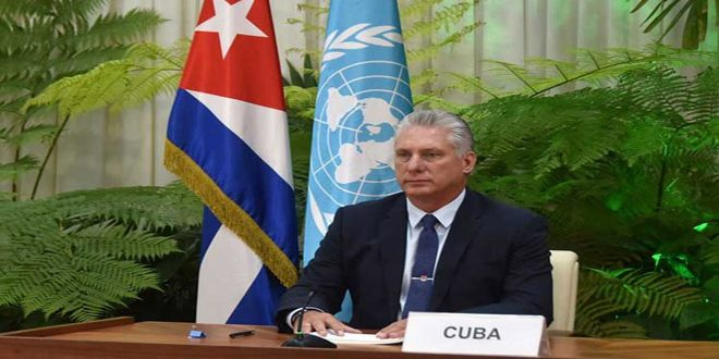 Presidente cubano ratifica importancia de avanzar en una solución política a la crisis en Siria