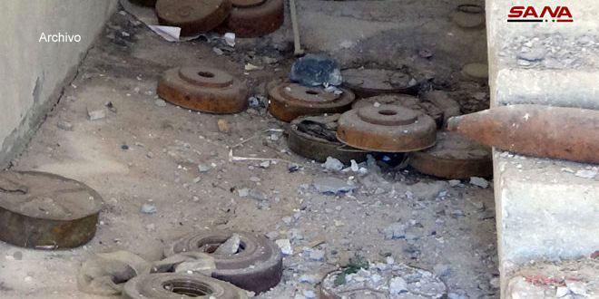 Explota una mina remanente de terroristas en Suhita, provincia de Quneitra