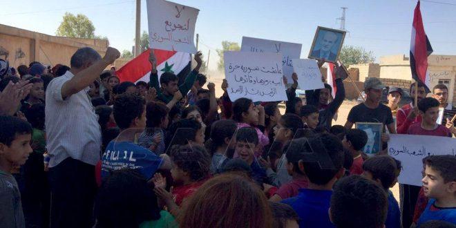 Protestan en Qamishli contra las ocupaciones turca y estadounidense. (fotos)
