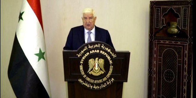 Al-Moallem pronuncia las palabras de Siria ante el 75º período de sesiones de la Asamblea General de la ONU