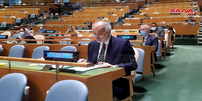 La ONU no logró prevenir las guerras ni poner fin al colonialismo, la ocupación y la agresión, afirma Jaafari