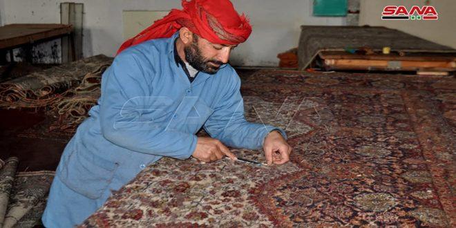 En fotos: La fábrica de alfombras de la provincia sureña de Sweida