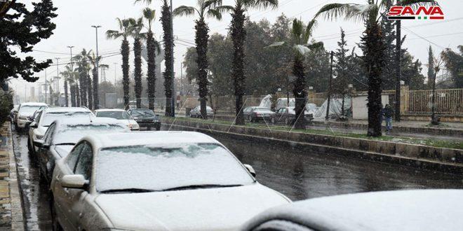 La nevada en la ciudad de Alepo