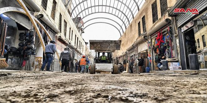 Continúan obras de rehabilitación del histórico mercado de Assouroujieh en Damasco (Fotoreportaje)