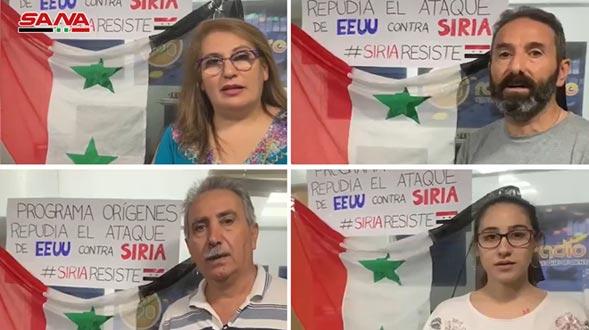 Mensajes de solidaridad con Siria desde Argentina