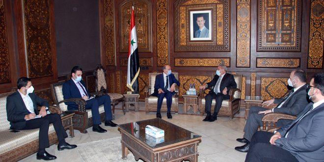Ministro del Interior examina con Musharrafia el retorno de los refugiados sirios