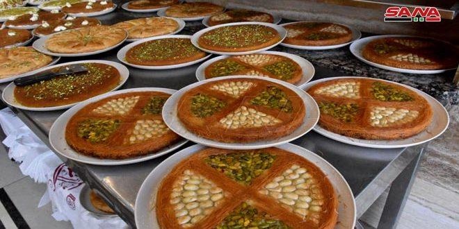 Dulces típicos de Ramadán en la provincia central de Hama