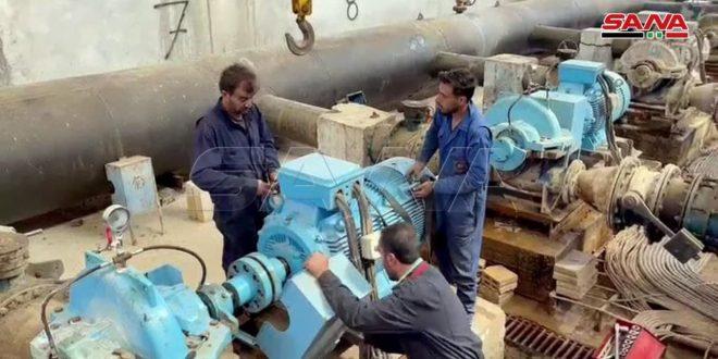 Mercenarios proturcos interrumpen funcionamiento de la planta de agua Alouk en Hasakeh