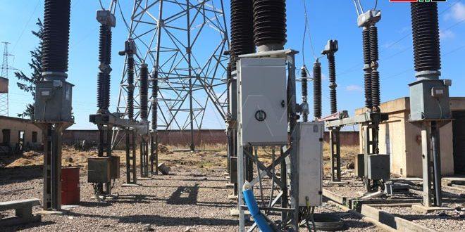 Restaurada una importante línea eléctrica en Deraa