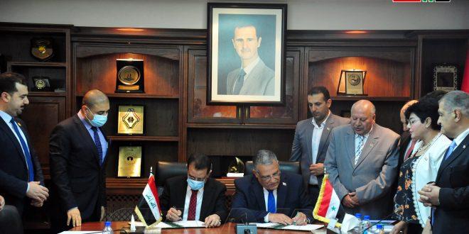 Siria e Irak firman memorando para la cooperación científico-técnica en el campo agrícola