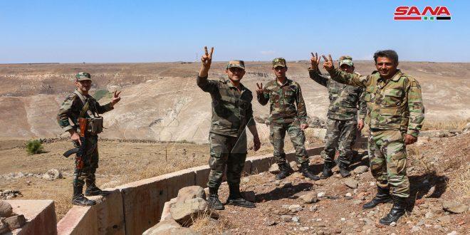 Ejército sirio fijó nuevas posiciones militares en áreas aledañas al Golán sirio ocupado en el extremo noroeste de Deraa (+ fotos)