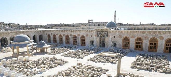 En imágenes…Restauración de la Gran Mezquita Omeya en Alepo