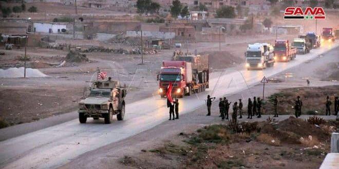 Convoy estadounidense de 150 camiones sale del territorio sirio