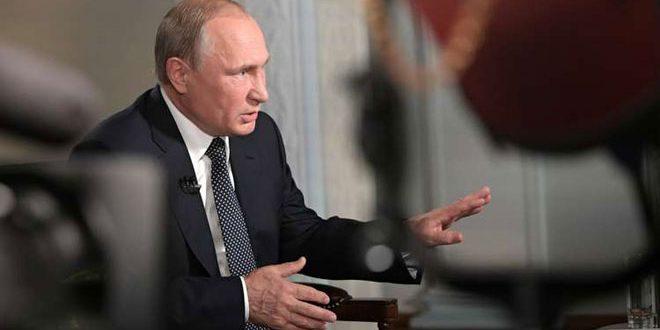 Poutine: Les réseaux terroristes sont responsables des victimes civils tombés en Syrie